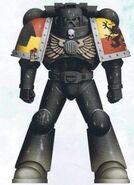 Grifos Aullantes Hermano Palitinus Servoarmadura Mark VIII Errante Camuflaje Mundo Nocturno Marines Espaciales Astartes Wikihammer