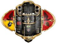 Caballero Andante Corazón Negro; vista superior