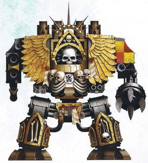 Grifos Aullantes Venerable Dreadnought Confesor Capellan Armand Titus Marines Espaciales Astartes Wikihammer-0
