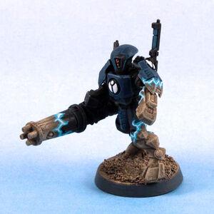 Desactivacion holocampo de armadura Tau XV15