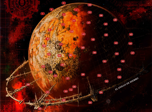 Planeta marte numerado
