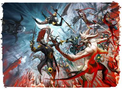 Eldar arlequines vs demonios slaanesh 02