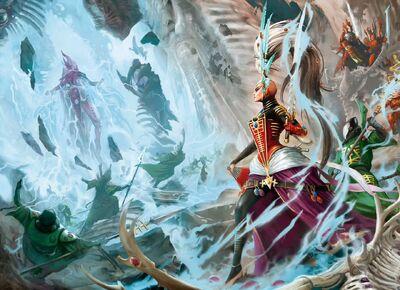 Eldar nacimiento yncarne avatar dios de la muerte