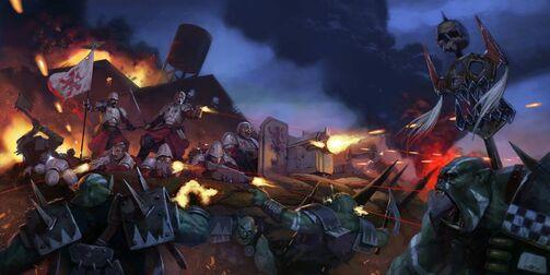 Masacre del Río del Gran Colmillo Praetorianos vs Orkos