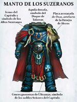Arma manto de los suzeranos cato sicarius