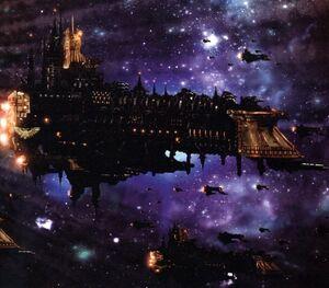 Flota acorazado espacio