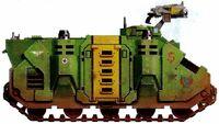 Guerreros Mantis Transporte Blindado Tropas Rhino Quinta Compañia Marines Espaciales Astartes Wikihammer