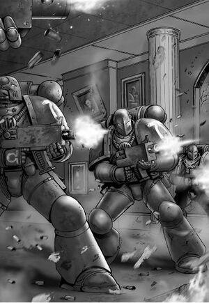 Infiltrados Legión Alfa atacan a Roboute Guilliman