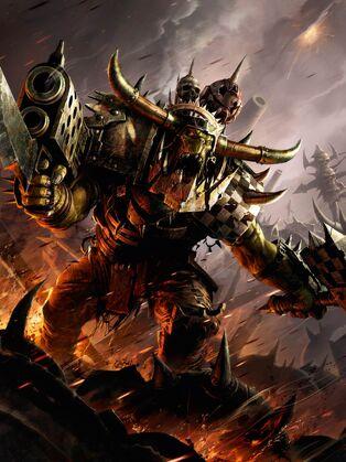 Orkos kaudillo rebanadora portada codex