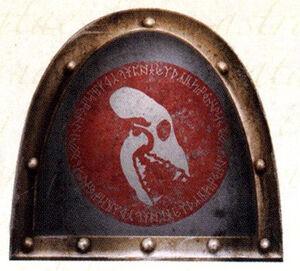 Emblema Vasallos de la Muerte Morkai Lobos Espaciales FW ilustración
