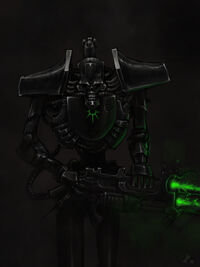 Guerrero Necron Blaster Gauss Fanart Wikihammer