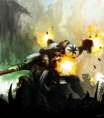 Iniciados Templarios Negros luchando espalda con espalda
