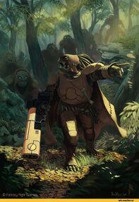 Kroot con equipación Tau