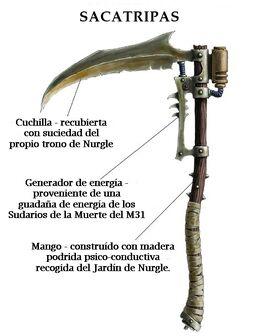 Arma guadaña typhus