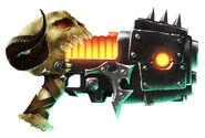 Arma pistola plasma lengua del segador