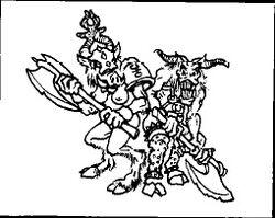 Hombres Bestia Esclavos Slaanesh Caos 1ª Edición ilustración