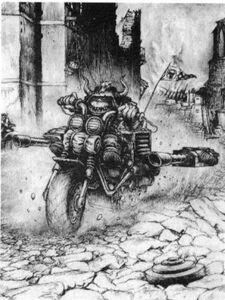 Motorizta Orkos Martin McKenna 1ª Edición ilustración