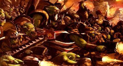 Waaagh orkos warhammer 40k wikihammer