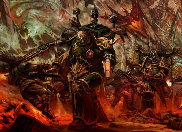 Caos marines traidores cruzada negra wikihammer