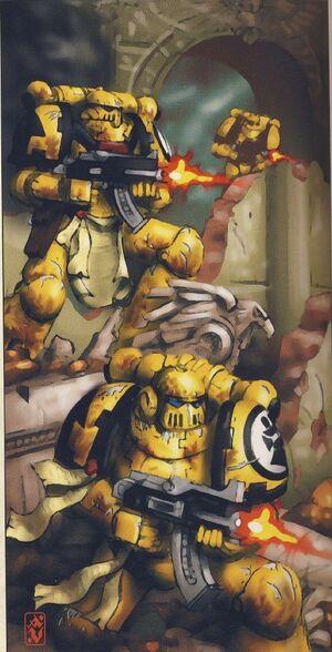 Puños imperiales batalla terra
