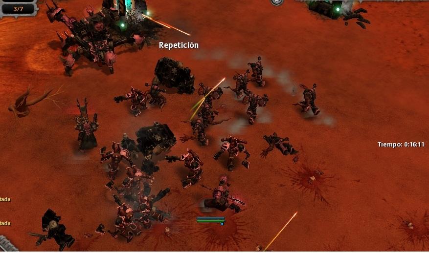 43 Sus deadnoughts caen, el Caos se alza con la victoria aplastantemente.