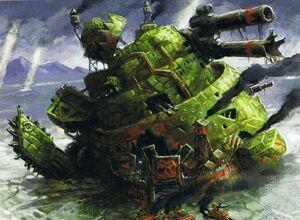 Gargante destruido Orkos Epic ilustración
