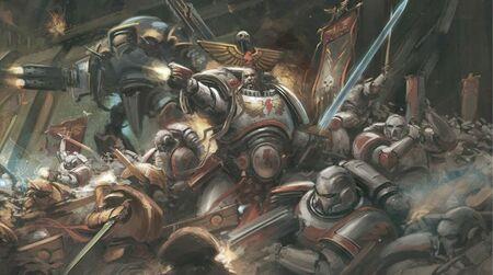 Kor'sarro Khan Cicatrices Blancas Caballeros Imperiales Voldoris vs Tau