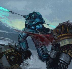Caos legion alfa legionario vs marines leales