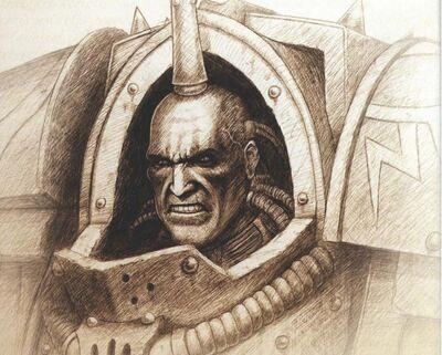 Ezekyle Abaddon Primer Capitán Hijos de Horus boceto