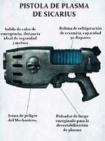 Arma pistola plasma cato sicarius