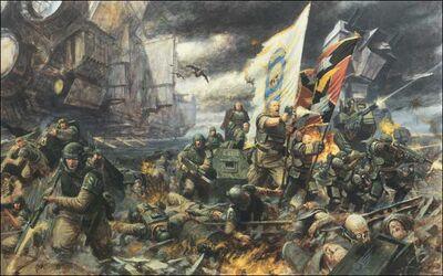 Guardia imperial Creed y el 8º de Cadia en la Batalla de los Campos de Tyrok