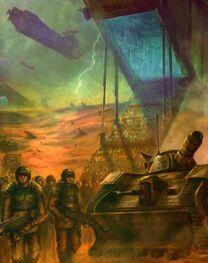 Guardia imperial desembarco de tropas