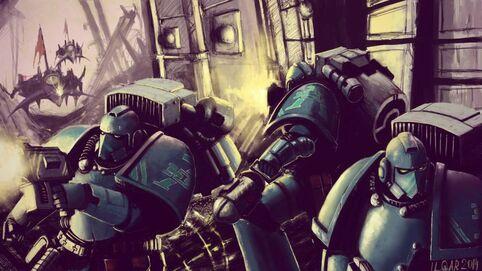 Preherejia legion alfa marines vs eldars oscuros