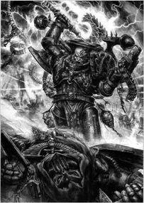 Caos legion alfa marine del caos vs angel oscuro