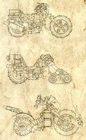 Motocikleta Ooge Xhausts 1 Wikihammer 40K