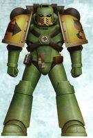 Guerreros Mantis Hermano Herrodus Servoarmadura Mark IV Maximus Tactico Marines Espaciales Astartes Wikihammer