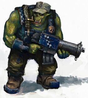 Orkos craneos de muerte ametrallador