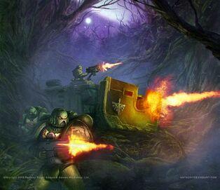 Marines angeles oscuros batalla bosque