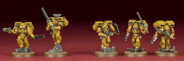 Miniatura marines puños imperiales escuadra gauthard