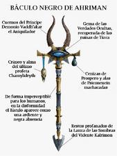 Arma baculo negro de ahriman