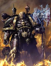 Caos guerrero de hierro hacha energia
