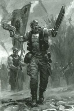 Escuadrón de Mando de Pelotón Catachán Guardia Imperial 5ª Edición ilustración