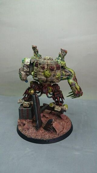 Dreadnough Nurgle 40k 3 propainted