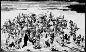 Escudos Blancos herido Guardia Imperial Pete Knifton 1ª Edición ilustración