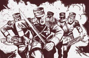 Carga de soldados de mordia