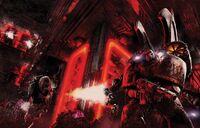 Corvus Corax asalto base Hijos de Horus rifle de fusión