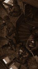 Gi tropas de la muerte de krieg guarnición