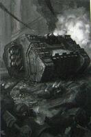 Land Raider Cruzado Ángeles Sangrientos 5ª Edición ilustración