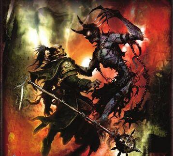 Caos demonio vs brujo cultista