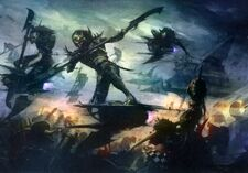 Eldars oscuros infernales vs orkos